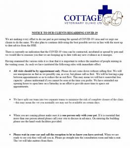 NOTICE TO OUR CLIENTS REGARDING COVID-19